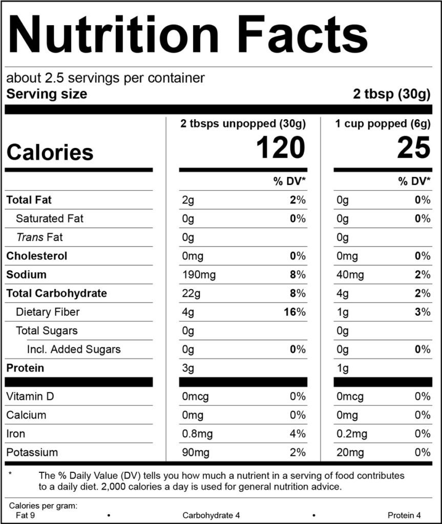 94% Fat Free Butter Nutrition Facts